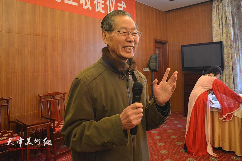 天津市政协书画艺术研究会原副会长刘建华祝贺。