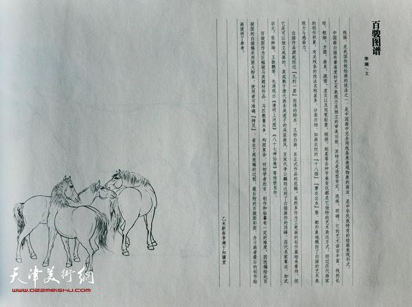 李澜《线描百骏图谱》一书书影。
