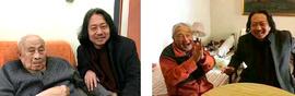天津画院院长贾广健分别看望秦征先生和孙其峰先生