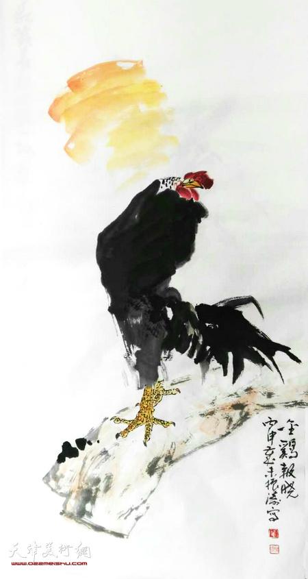 著名画家董振涛吉年画鸡