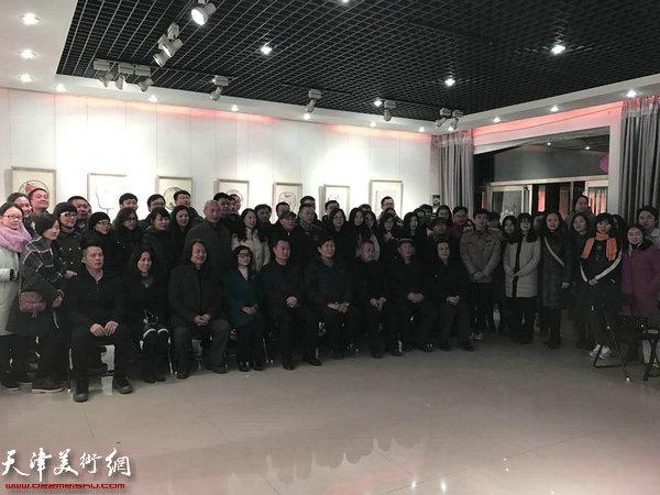 """第三届""""庭前春早-贾广健师生中国画作品展""""2月11日在贾广健艺术馆开幕。"""