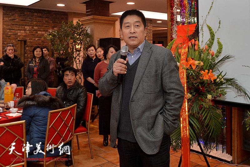中央文史馆画院院长马新林致辞