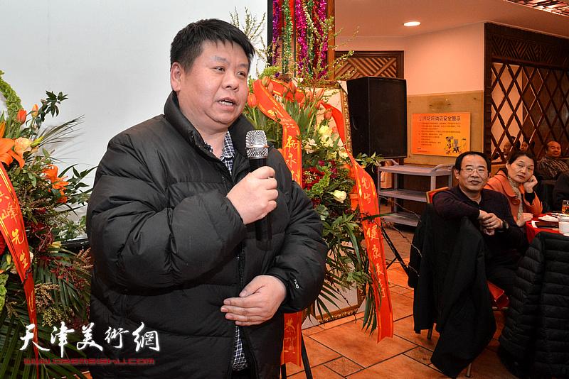 中央工艺美院附中校长王泽旭致辞