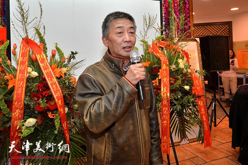 天津美术学院院长邓国源致辞。