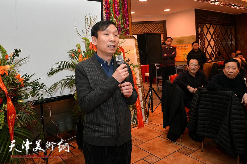 中国书协副主席、天津文联副主席、天津书协常务副主席张建会致辞