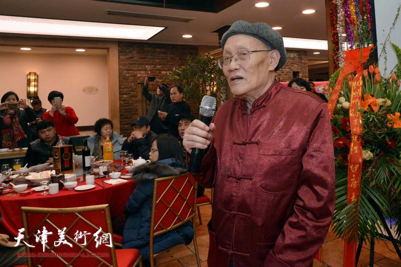 著名山水画家、孙其峰先生长子孙长康致辞。