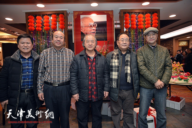王书平、孙季康、张彦、孟庆占在庆寿聚会现场。