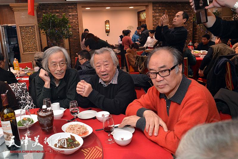 阮克敏、郭书仁、姚景卿在庆寿宴上。