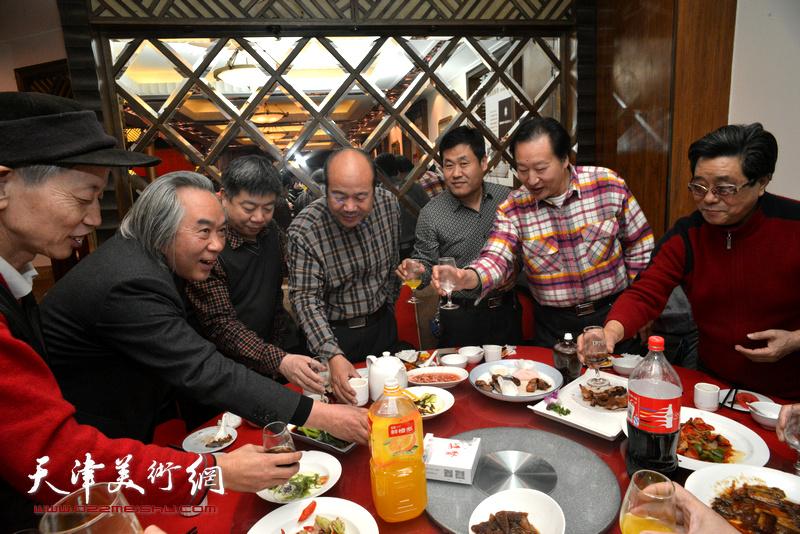 霍春阳、孟庆占、曲学真、赵同相、刘家城、张养峰、张胜利在庆寿