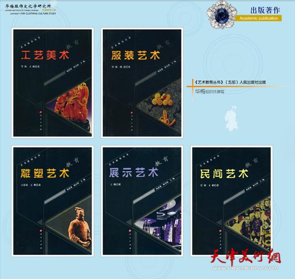 《艺术教育丛书》(五部)人民出版社出版 华梅组织并撰写
