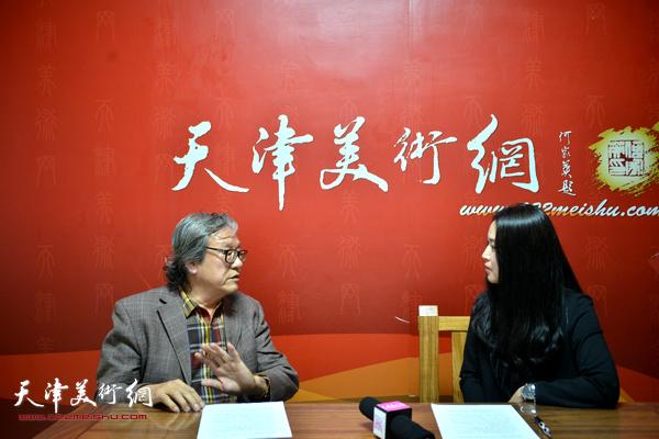 著名雕塑家王家斌做客天津美术网