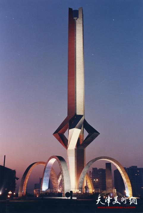 五洲擎天(天津开发区建区十周年纪念碑),高60米