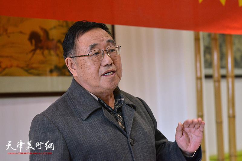 畫會倡導人之一關尚卿先生發言,并宣讀天津湖社畫會章程。