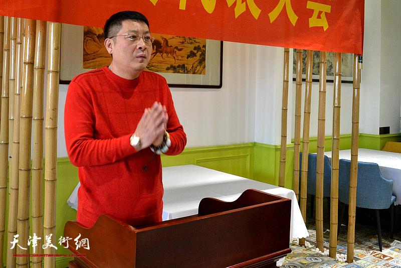 天津海東青文化傳播有限公司董事長孫學武先生發言。