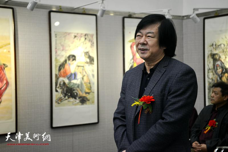 天津美术家协会副主席史振岭致辞。