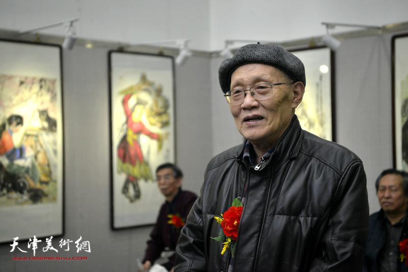 天津湖社画会会长、津门画院院长孙长康致辞。