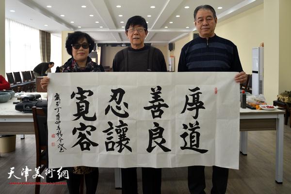 陈音兰、杨金池、穆祥旺在活动现场。