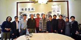 南开文联副主席黑成义等到热海清真美食园文化雅集