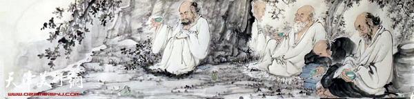 张佩钢小品画新作:《罗汉》