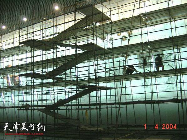 王书朋何莉油画作品《百年风云》