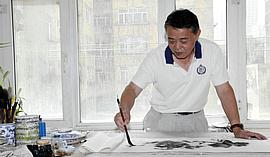 戈壁滩上涌清泉—著名画家马明新疆花鸟画印象