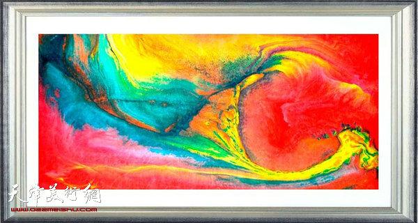 14-P-C-SL-30 作品:化虹 规格:70×150cm 作者:朱红 创作年代:2014