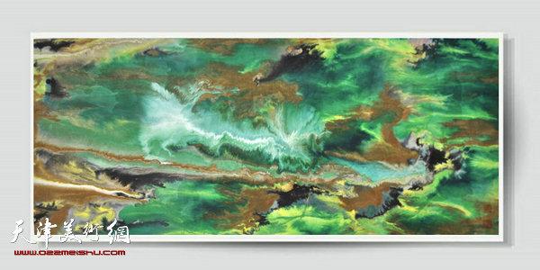 T-C-ES-20 作品:心雨  规格:55×130cm 作者:苏秀秀 创作年代:2013