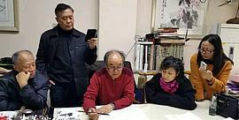 著名画家阮克敏、郭书仁2017春季写意国画班在津开课