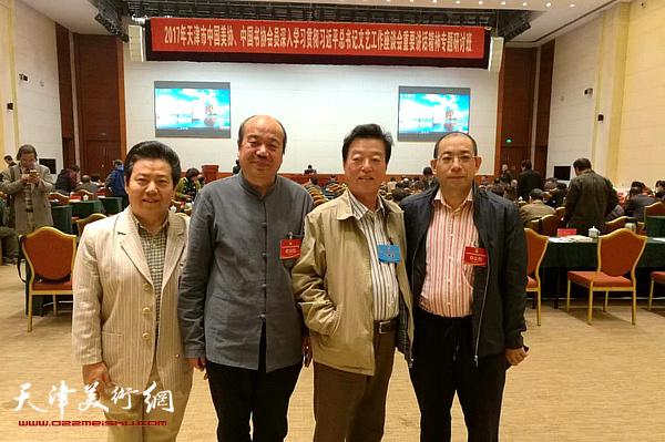 左起:李锐钧、孟庆占、杨建国、姜志峰在现场。