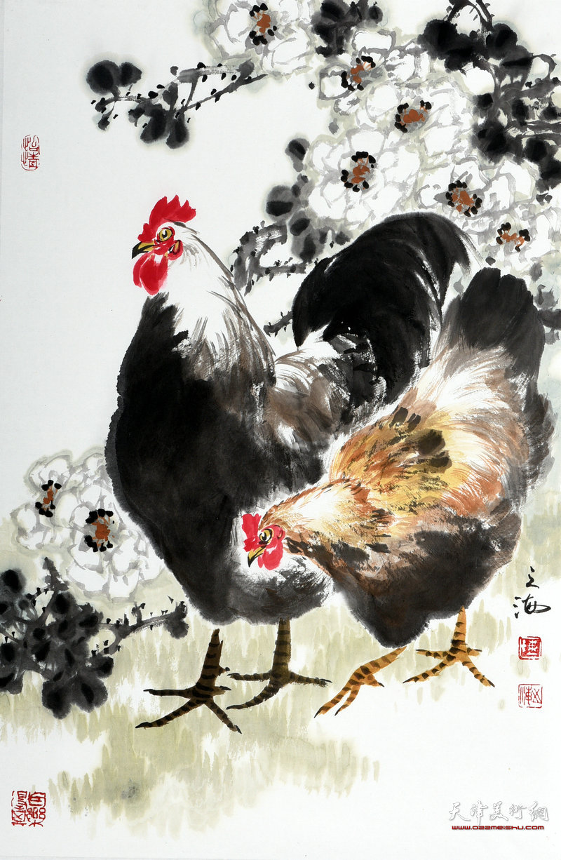 天津著名画家陈之海作品