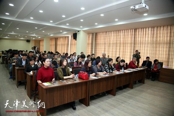 国培计划·中国书画等级考试硬笔书法培训师天津第二届培训会在天津金带福路文化传播中心举行。
