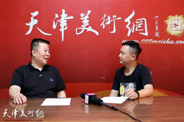 著名画家潘晓鸥做客天津美术网