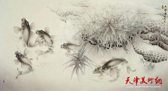 潘晓鸥作品《六合图》