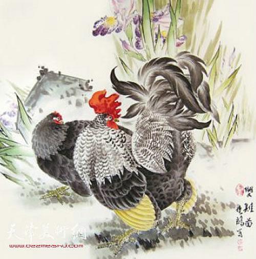 彩铅手绘野山鸡作品