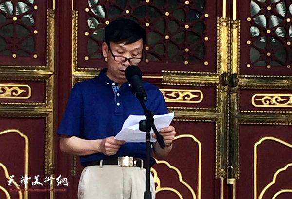 中国书法家协会副主席、天津文联副主席张建会致辞。