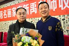 组图:著名工笔人物画家李新禹喜收赵鹏为徒