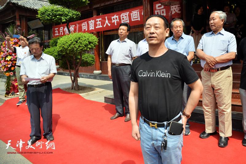 静海美术馆馆长李龙云致辞。