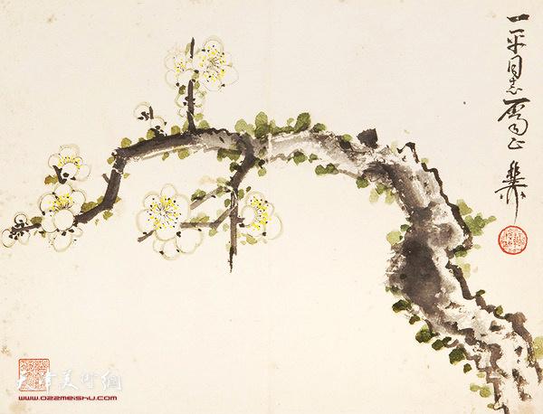 谢稚柳(1910-1997) 白梅