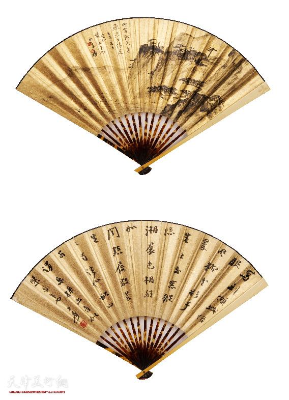 张大千(1899-1983) 书画成扇