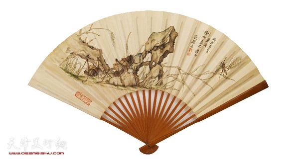 刘奎龄(1885-1967) 草虫 扇面