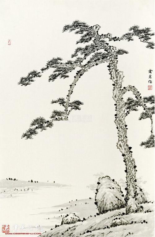 霍岩 松石图