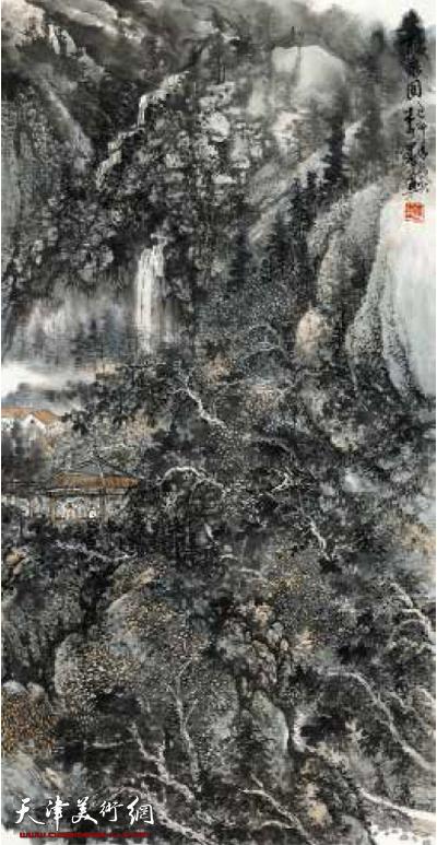 李墨山水画作品