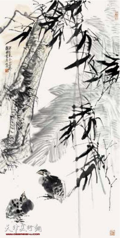 李墨花鸟画作品