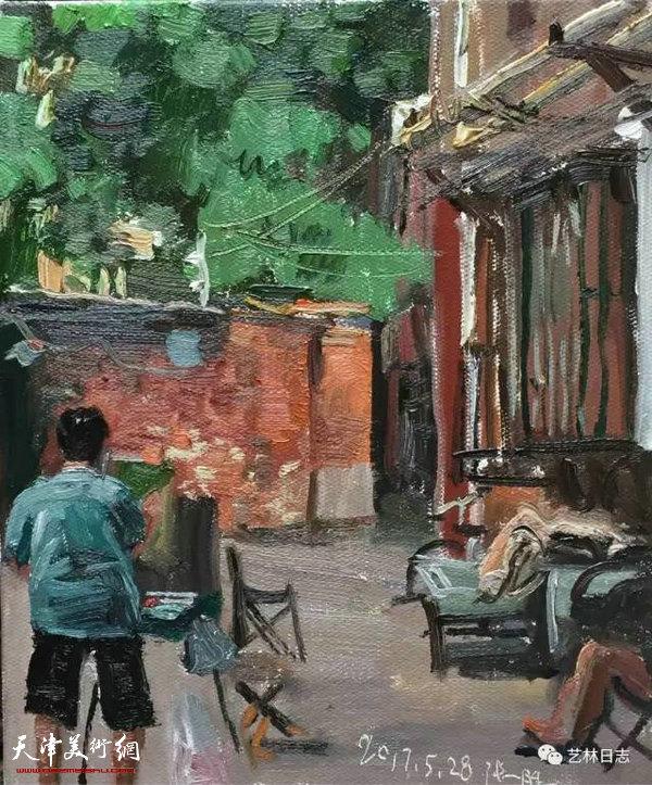 著名油画家张胜近期人物速写
