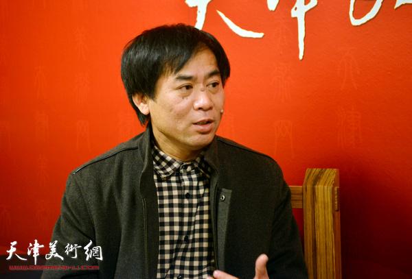 肖培金做客天津美术网。