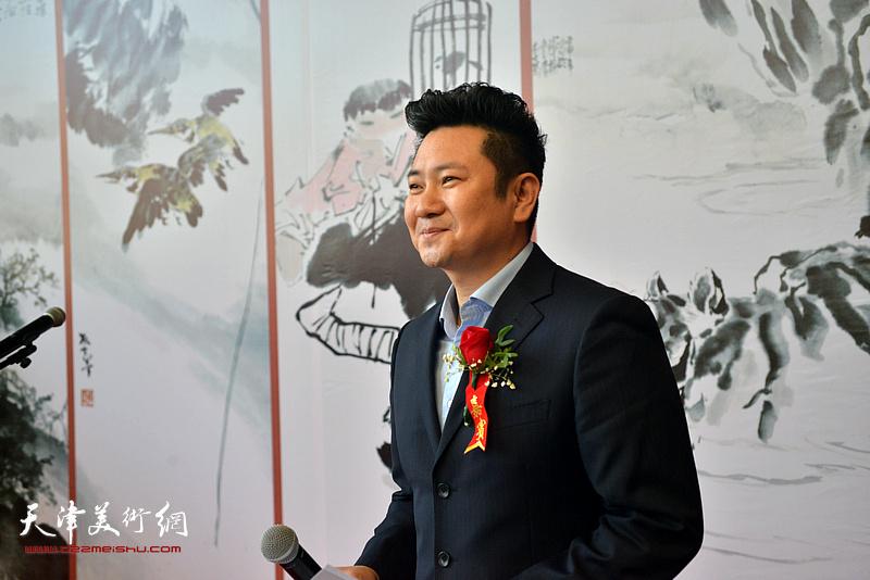 画展开幕仪式由天津电视台著名主持人、书法家朱懿主持。
