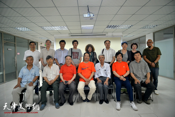 天津市美术家协会人物画专业委员会人物画创作研讨讲座在中国书画报社举行。