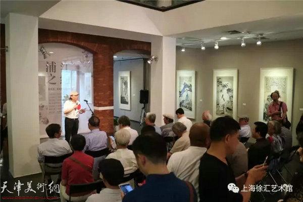 """""""浦江之约——陈冬至、苏鸿升人物画展""""6月21日在徐汇艺术馆开幕。"""