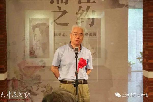 参展艺术家、天津人民美术出版社美术馆馆长苏鸿升先生致答谢词