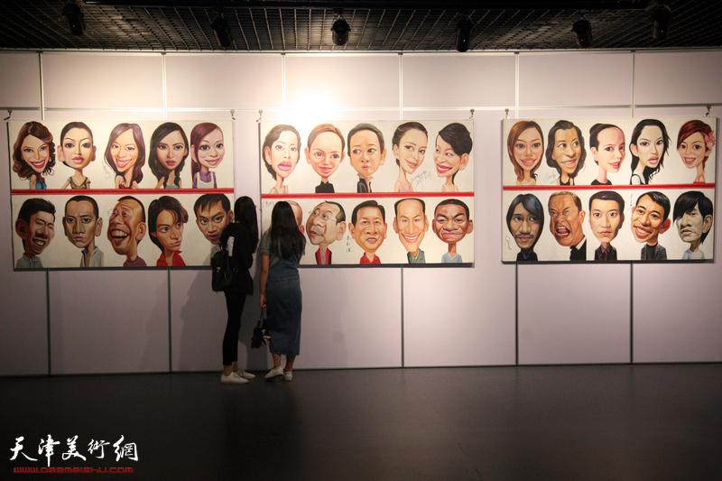 乔晋津名人肖像漫画展